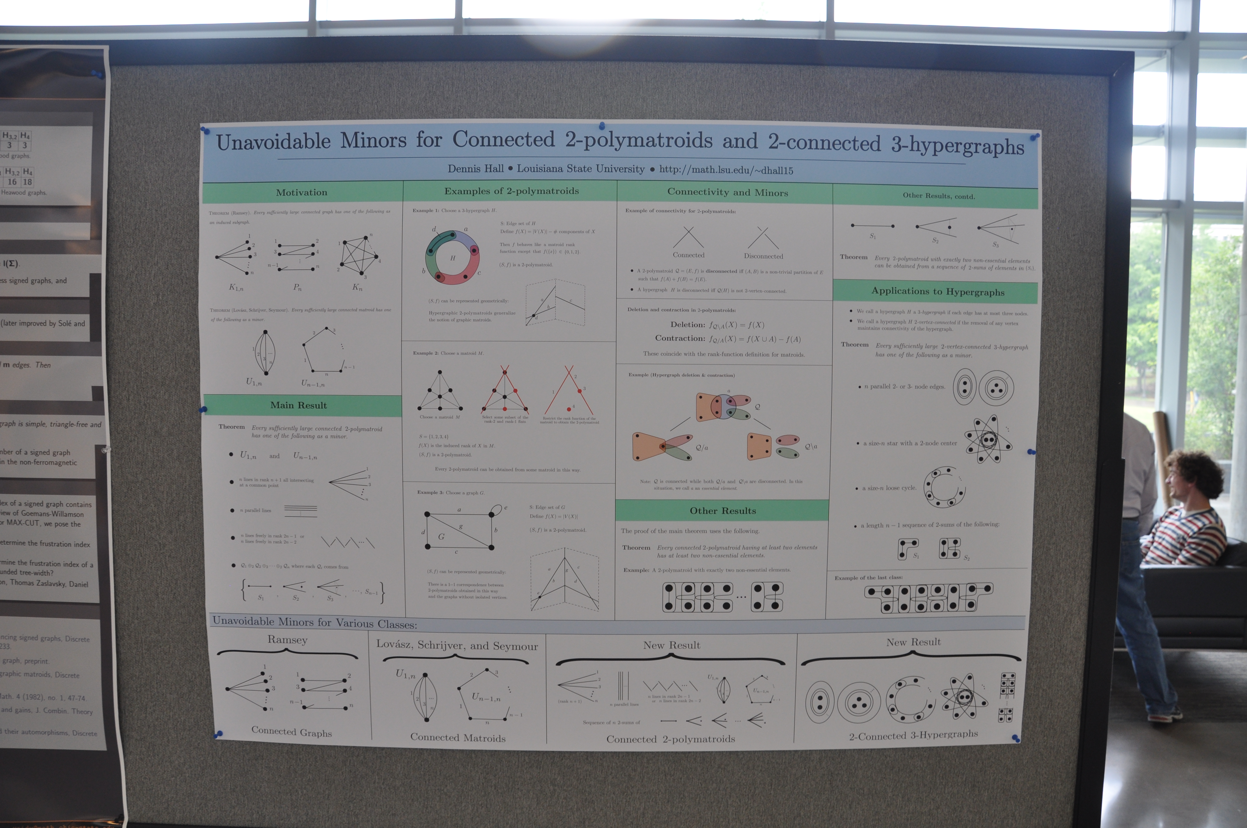 Poster presentations graph theory georgia tech dennis hall louisiana state university unavoidable minors for connected 2 polymatroids baditri Gallery